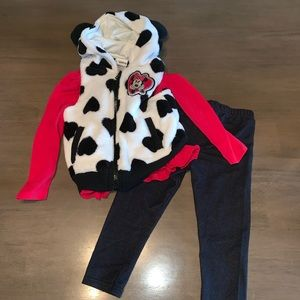 3-piece Minnie Mouse Vest Outfit